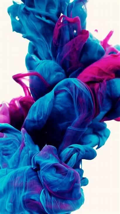 Purple Abstrak Wallpapers Biru Ink Paint Clouds