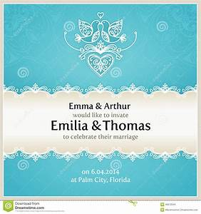 blue wedding invitation design template stock vector With wedding invitation designs aqua blue