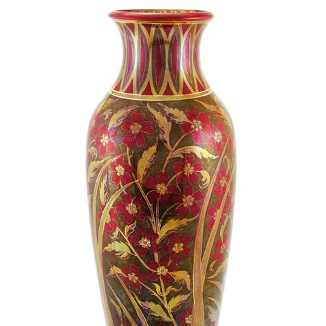 hungarian antique zsolnay iridescent multicolor vase