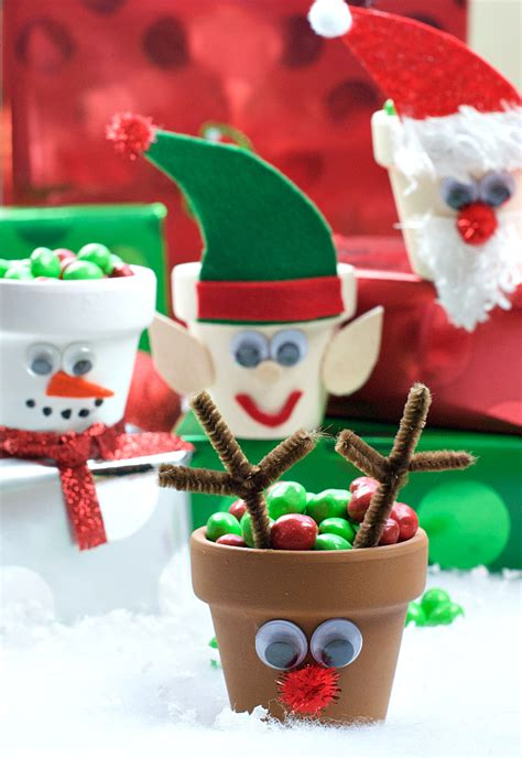Holiday Character Candy Pots  Crazy Little Projects