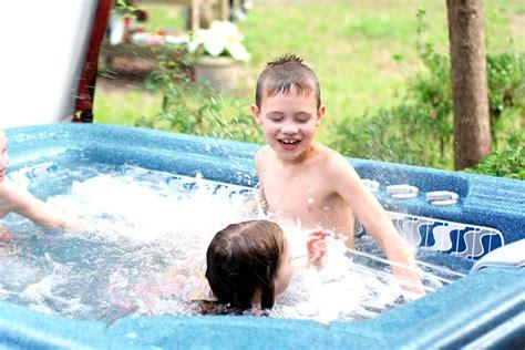 As They Nap Hot Tub Fun