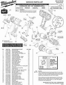 Milwaukee 0724-20 A55a Parts  2 Hammer