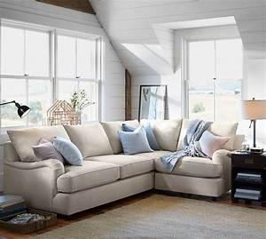 pb comfort english arm upholstered 3 piece sectional with With pottery barn comfort sofa sectional
