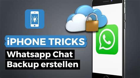 whatsapp backup  iphone erstellen und chats sichern
