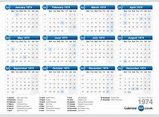Calendar 1974