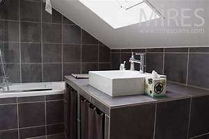 petite salle de bains mansardee c0763 mires paris With salle de bain mansardee photos