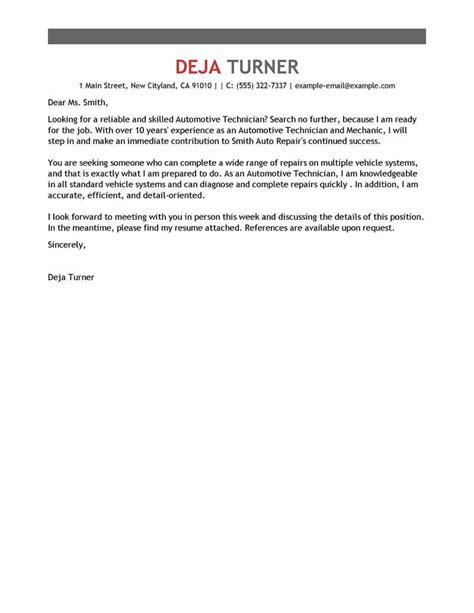 Best Automotive Cover Letter Samples   LiveCareer