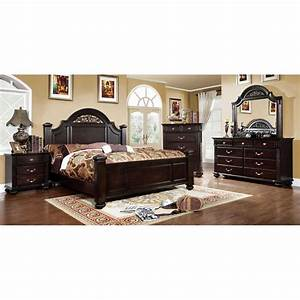 Import direct 6 piece cal king bedroom set for Bedroom sets king
