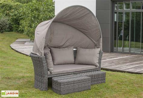 canapé lit rond lit rond d 39 extérieur en résine tressée 1 canapé 2