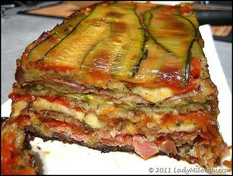 cuisine courgettes gratin terrine de courgettes jambon et mozzarella recette