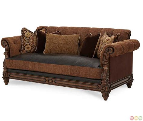 leather and fabric sofa leather and material sofas hickory manor living room