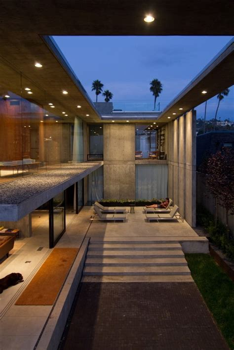 concrete residential architecture designed  feel spacious modern house designs