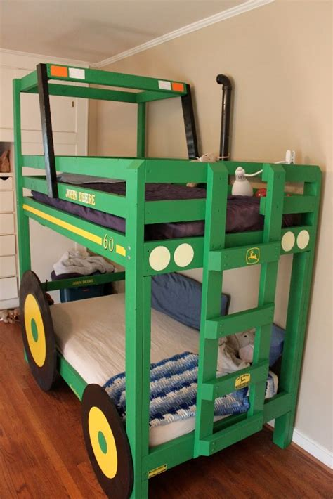 John Deere Bunk Beds by Cool Diy Tractor Bunk Beds For Your Boys Kidsomania