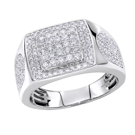 luxurman pinky wedding rings affordable 10k gold mens