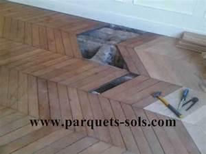 renovation de parquet ancien cloue point de hongrie With enlever parquet ancien