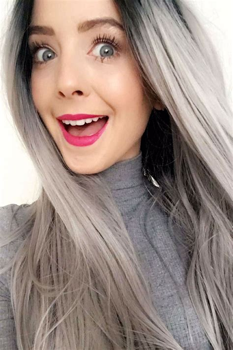 color gray hair grey hair color is the trend of 2018 best hair