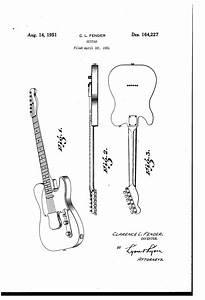 Patent Usd164227 - Fender Guitar