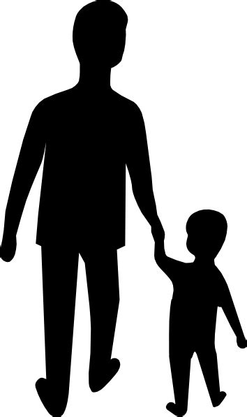 Parent And Child Holding Hands Clip Art at Clker.com