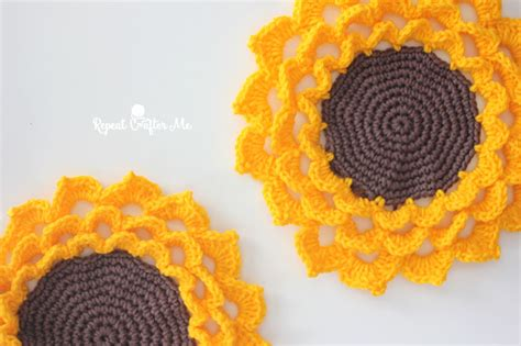 spring flower crochet coaster repeat crafter