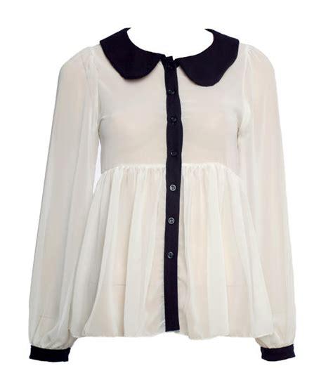 collar blouse pan collar blouse