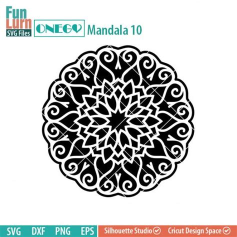 The svg is available free on my website. ONEGO Mandala 10 - FunLurn SVG