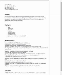 professional government contracting officer templates to With government contractor resume