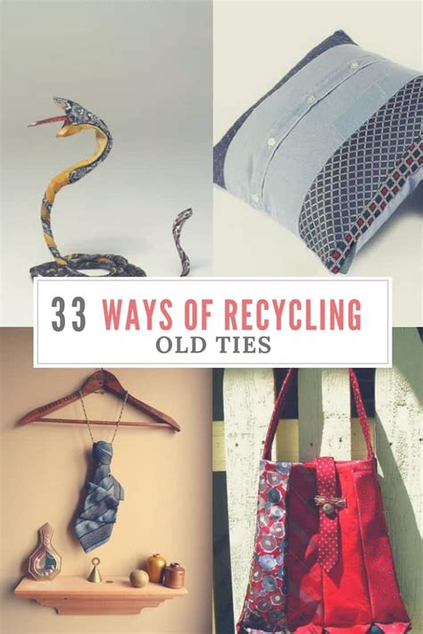 creative ways  recycling  ties   inspire
