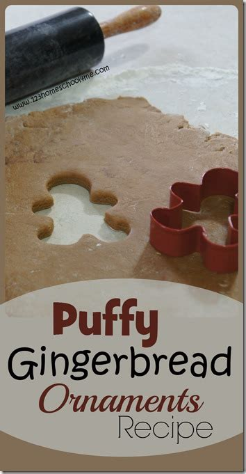 puffy gingerbread ornaments recipe