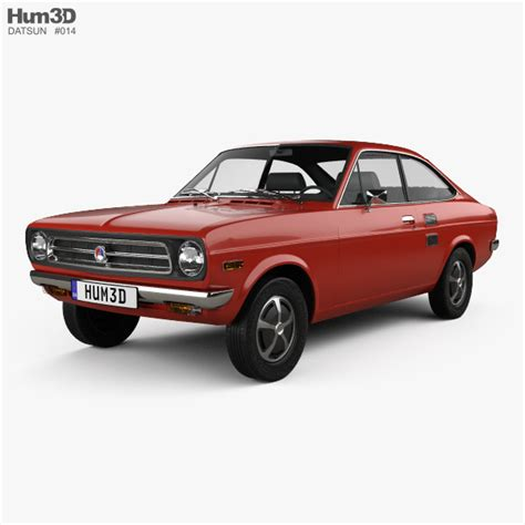 Datsun Car Models by Datsun 1200 Coupe 1970 3d Model Vehicles On Hum3d