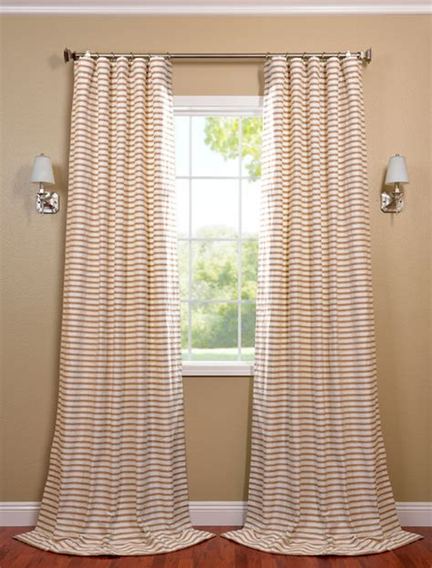 white and beige casual cotton curtain contemporary