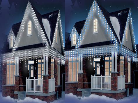 outdoor xmas lights uk 480 720 960 icicle snowing led bright lights indoor outdoor ebay
