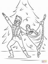 Coloring Pages Nutcracker Ballet Printable Drawing Dot Games Paper sketch template