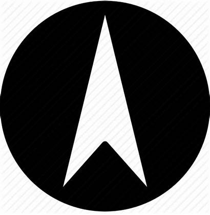 North Arrow Point Icon Solid 512px