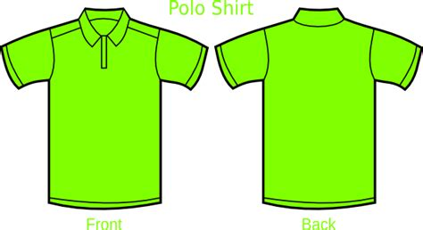 Kerah Apple green polo shirt clip vector clip
