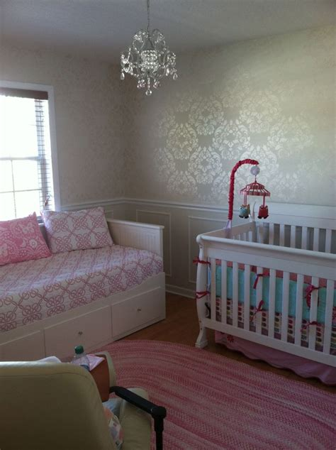 Baby's Nursery Final Result Installed A Chair Rail On