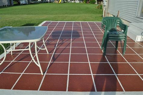 how to paint patio tiles