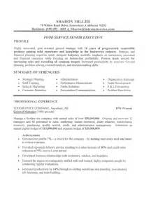 resume for ceo position executive resume sle