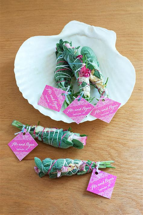 diy wedding favors diy smudge stick wedding favors weddings ideas from evermine