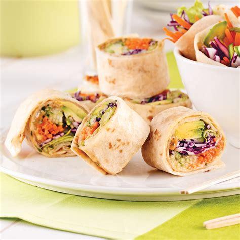 cuisine wrap wraps façon rouleaux de printemps recettes cuisine et