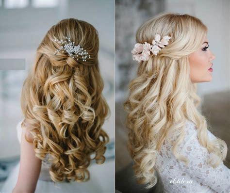 elegantes peinados de novia pelo mediano largo peinados