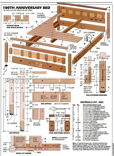 Bedroom Furniture Plans • Woodarchivist