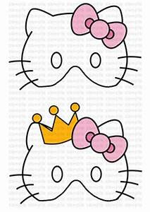 hello kitty kitty and coloring pages on pinterest With hello kitty mask template