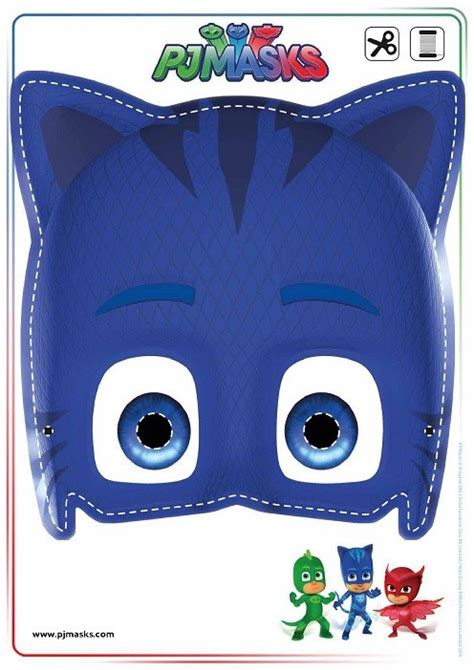 pj masks template pj masks m 225 scaras divertidas para imprimir y jugar todo peques