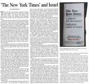 """CAMERA Snapshots: CAMERA Op-Ed """"' The New York Times' and ..."""