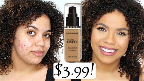 la colors review la colors truly matte foundation review skin