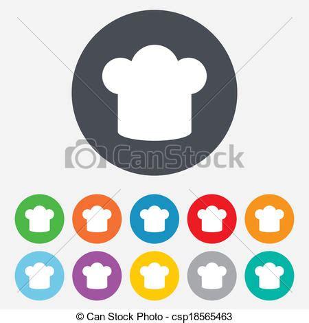 icone cuisine illustration de chef cuistot chapeau signe icône