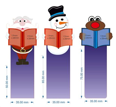 christmas template mark bookmark template to print activity shelter