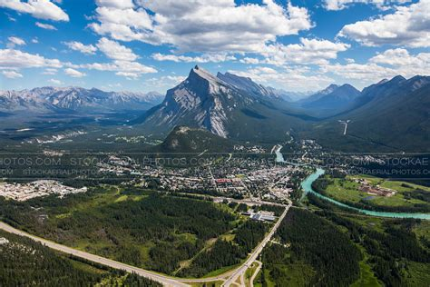 Town insurance services is located in san diego city of california state. Aerial Photo   Banff, Alberta