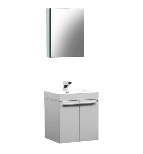 White Bathroom Vanities At Menards by Fresca Alto White Modern Bathroom Vanity W Medicine
