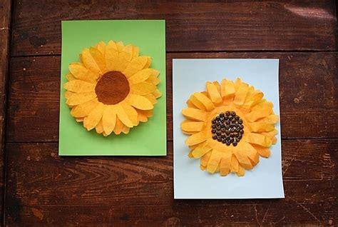 coffee filter sunflowers  fun sunflower craft  kids